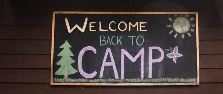 welcome back to camp sign