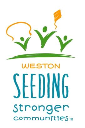 Westons Seeding Stronger Communities Logo